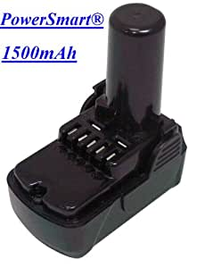 PowerSmart 10.8V 1500mAh Li-ion Battery for Hitachi 329369, 329370, 329371, UB 10DL UC 10 SFL UC 10 SL WH 10DCL WH 10DFL WH 10DL 329389, 331065, BCL 1015