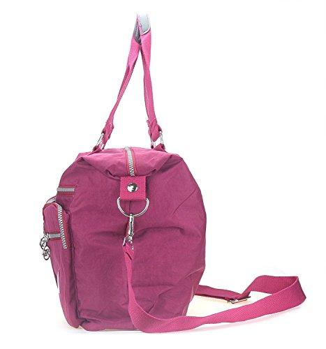 Bags Pocket Wine Casual Travel Handbag Women's Shoulder Handbag Red Cross Nylon Multi Bags Tote Body Travel Bag Waterproof UqxB0wEf