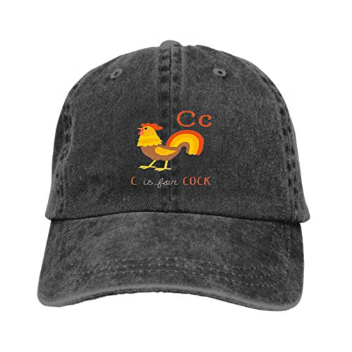 Vintage Jeans Baseball Cap Cartoon Cock Funny Rooster c Clipart eps Hand Drawn i Black