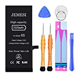 JEMESI 2500mAh Battery for iPhone 6s, Ultra High Capacity Battery Replacement, with Professional Tools and Installation Manual-1 Year Warranty