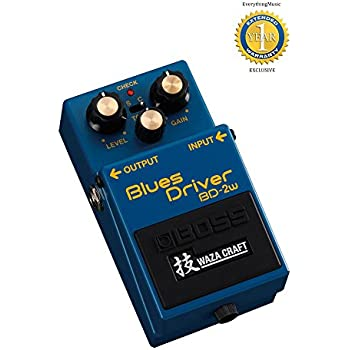 Boss BD-2W Blues Driver Waza Craft Distortion Pedal with 1 Year Free Extended Warranty