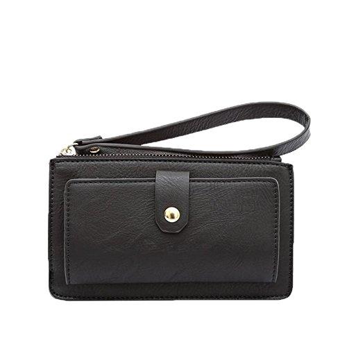 Melie Bianco Messenger (Melie Bianco Zane Vegan Leather Wristlet Wallet (Black))
