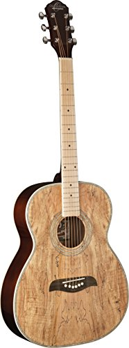 New Oscar Schmidt OF2MFSM 6-String Folk-style Acoustic Guitar with Spalted Maple Top and Maple Fretboard