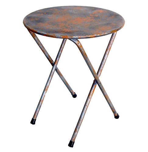 NACH th-F5334 Round Rustic Bistro Table, Blue/Grey by NACH