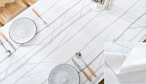 PVC Table Cloth Tree Printed Waterproof Oilproof Rectangle Dining Kitchen Table Protector Covering Home Party Wedding Tablecloth  tree B07SBF3X68