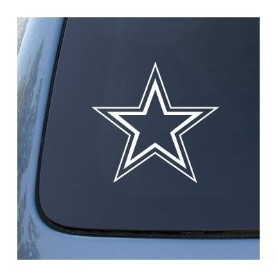 STAR DOUBLE OUTLINE 5'' WHITE Vinyl Decal Window Sticker for Laptop, Ipad, Window, Wall, Car, Truck, Motorcycle