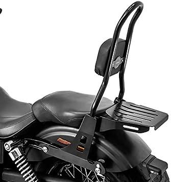 Sissybar Csl Mit Gepäckträger Kompatibel Für Harley Davidson Dyna Street Bob 09 17 Low Rider S Schwarz Auto