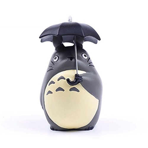 Maggift Totoro with Umbrella Statue 4inch My Neighbor Totoro Figure Decoration
