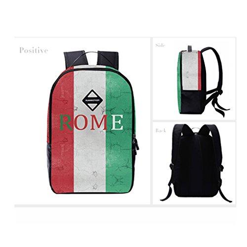 DoGeek Zaino Scuola Zainetti 3D Stampa Zaini Bambini Sacchetto di Scuola bandiera Borse a spalla unisex multicolore nylon Zaini per Ragazza Ragazzo bandiera 3