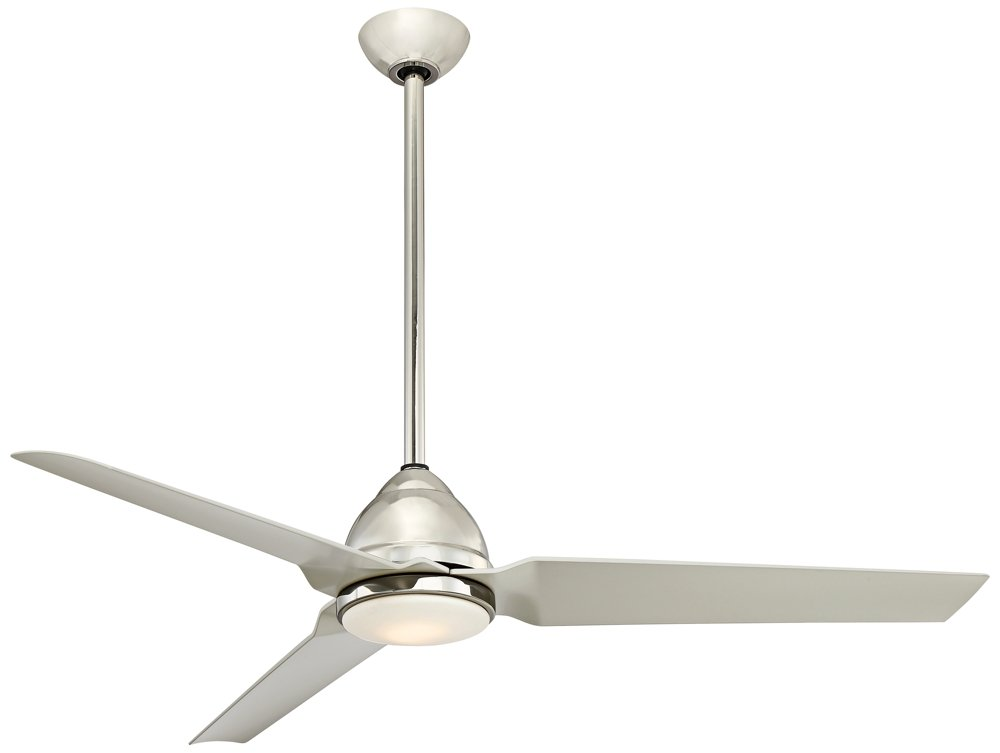 "Minka-Aire F753L-PN, Java LED 54"" Indoor or Outdoor Ceiling Fan, Polished Nickel"