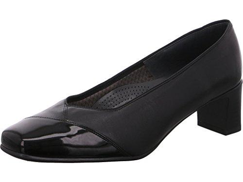 1241742 01 de Ara Negro 41742 VERONICOP mujer para Patente Negro zapatos tacón negra 01 dIIq8