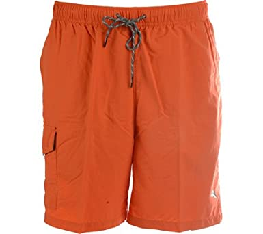 286dce984c738 Tommy Bahama Naples Happy Go Cargo Swim Suit (Color: Orange Blast, Size M