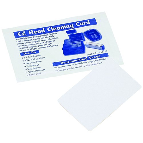Pm Company Swipe-Through Cleaning Cards, Card Reader Clea...