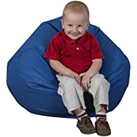 Round Bean Bag in Blue (26 in.)