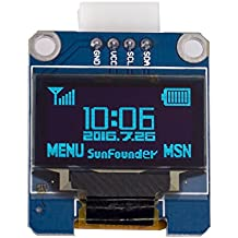 "SunFounder 0.96"" Inch Blue I2C IIC Serial 128x64 OLED LCD LED SSD1306 Module for Arduino Raspberry Pi Display"