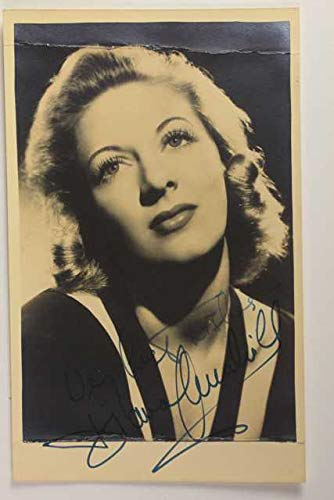Diana Churchill (d. 1963) Signed Autographed Vintage Photo Postcard - COA Matching Holograms