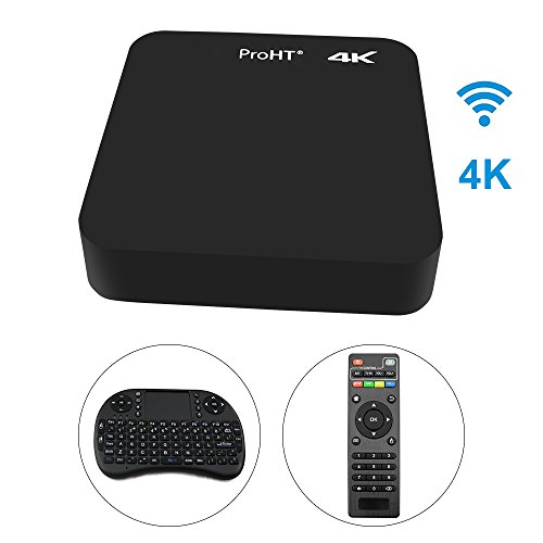 from usa proht android tv box 4k ultra hd wifi streaming media player 88159a with remote. Black Bedroom Furniture Sets. Home Design Ideas