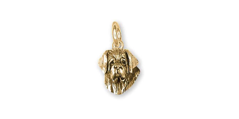 Saint Bernard Jewelry 14k Gold Handmade Saint Bernard Charm STB2H-CG