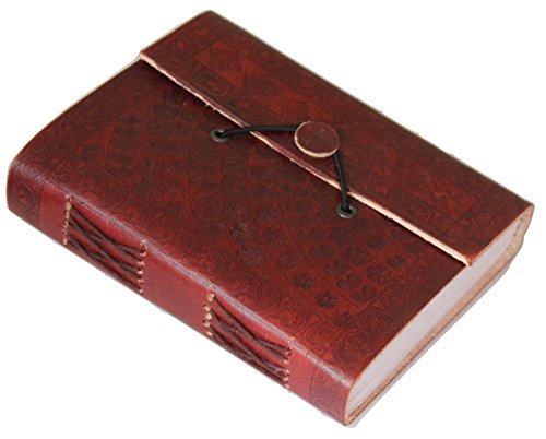 - Ancient European Embossed Leather Journal Diary (Handmade) with leather tie closure Active