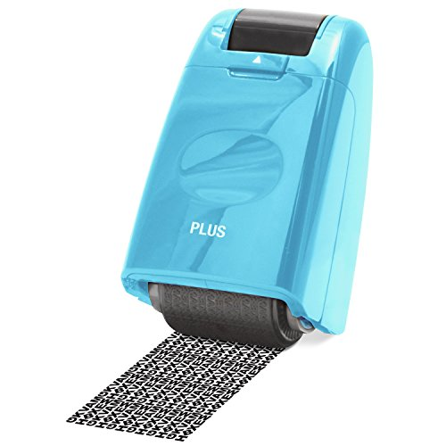 Guard Your ID Identity Protection Stamp Roller Identity Theft Prevention Security Stamp Mask Out Private Information Turquoise (70122)