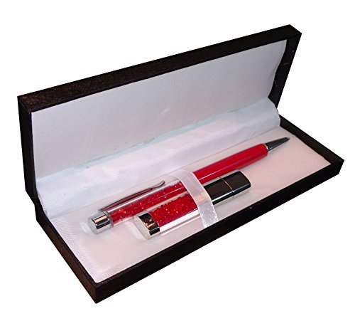 Red Crystal Memory Stick & Black Ink Ballpoint Pen Gift Set