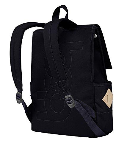 blnbag U1 - Leichter Tagesrucksack, Daypack für Damen und Herren mit Laptopfach, multifunktionaler City Rucksack, Backpack, unisex, Blassgrün Dunkelblau