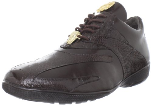 Belvedere Men's Bene Sneaker,Brown,8 M (Mens Brown Belvedere)