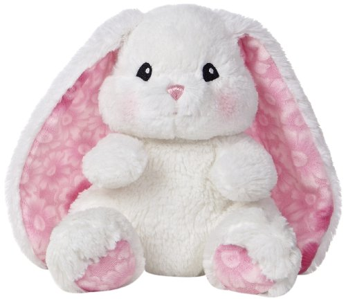 Aurora World Lopsie Wopsie Bunny Plush, White, (Stuffed Easter Rabbits)