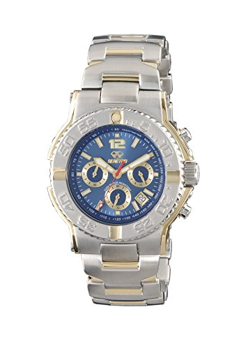 REACTOR Men's 75103 Critical Mass Chronograph Blue Dial Two-Tone Watch