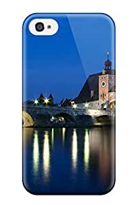 Ryan Knowlton Johnson's Shop 6775092K54558806 Top Quality Case Cover For Iphone 4/4s Case With Nice Steinerne Bruecke Regensburg Appearance