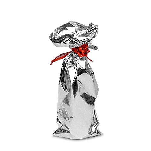 (Silver Mylar Wine Bags 12