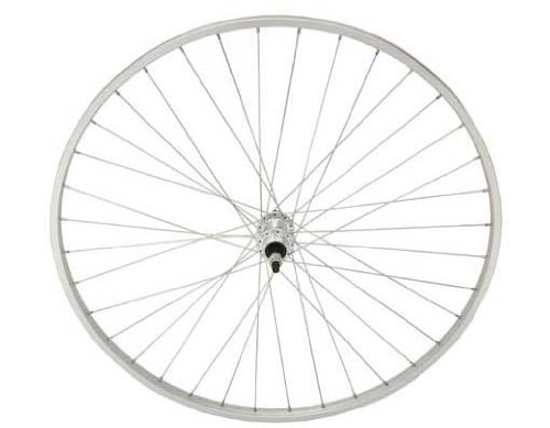 27'' x 1 1/4'' Alloy Free Wheel 14G Sliver. Bicycle wheel, bike wheel, 27'' bike wheel, 27'' bicycle wheel, fixed gear bike, track bike, bike part, bicycle part by Lowrider