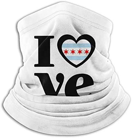 Love Chicago ネックガード 伸縮 通気性 バンダナ 通勤 通学 フェイスガード 多機能 マジックスカーフ