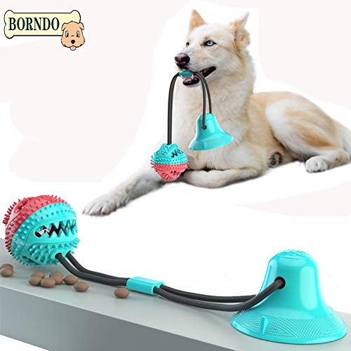 Borndo Upgrade Dog Chew Toys-Multifunction Interactive Ropes Toys with Suction Cup, Puppy Teething Toys Interactive Dog…