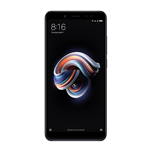 Xiaomi Redmi Note 5 32GB ROM + 3GB RAM, Dual Camera, Unlocked Smartphone - International Version (Black)