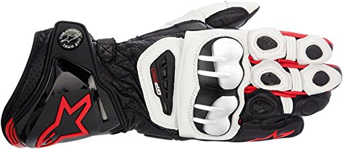 ALPINESTARS New Alpinestars GP Pro Adult Leather Gloves, Black/White/Red, Small/SM