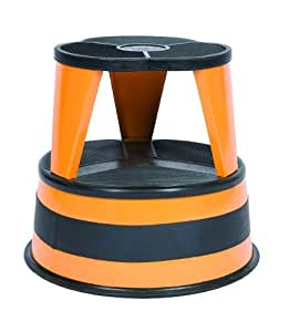 Cramer 1001 30 Kik Step Rolling Step Stool Orange Zest By