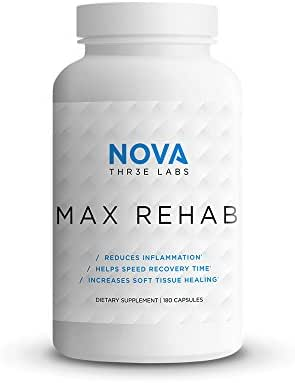 NOVA Three Labs   Max Rehab   Reduces Inflammation, Helps Speed Recovery Time & Increases Soft Tissue Healing   60 Servings