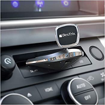 TechOrbits Universal CD Slot Magnetic Cell Phone Mount Compatible with Apple iPhone Samsung Galaxy LG HTC Google Smart Devices 360 Degree Rotating Head Smartphone Car Mount Kit CA007
