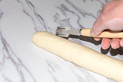 Hand Crafted Bread Lame with 5 Blades Included by Aeaker (Storage Box A) 3 PREMIUM DOUGH SCORING TOOL: Beautifully designed lame bread slashing tool, Aeaker scoring lame will help you become a baking artist with great experience METICULOUS CRAFTSMANSHIP: Beautifully designed to hold the lame firmly in place with a comfortable handle to achieve outstanding scoring results REPLACEABLE BLADES: Blades are easily replaceable with standard razor blades (5 included)