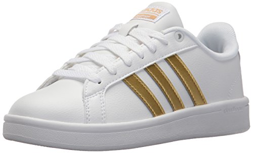 adidas Women's CF Advantage W Sneaker, FTWR White, Matte Gold, core Black, 8 M US