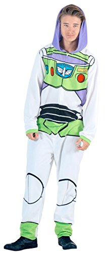 Toy Story Buzz Lightyear Union Suit Costume Pajama (Adult Medium)]()
