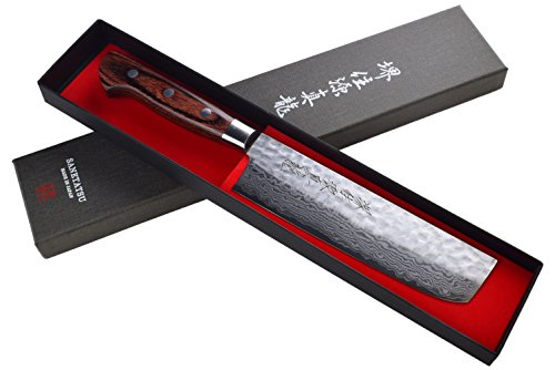 Damascus Steel Usuba Japanese Kitchen Knife 6.5'' by Sane Tatsu