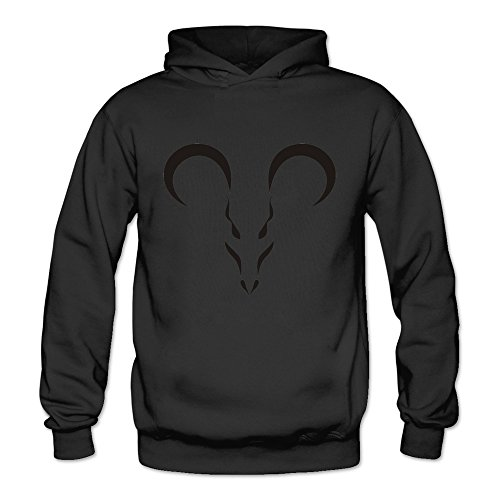 Tavil Aries Symbol Tattoos Sweetheart Casual Hoodies Size Large Black