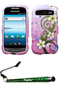 FoxyCase(TM) FREE stylus AND SAMSUNG R720 (Admire) Tropical Flowers Phone Protector Cover cas couverture