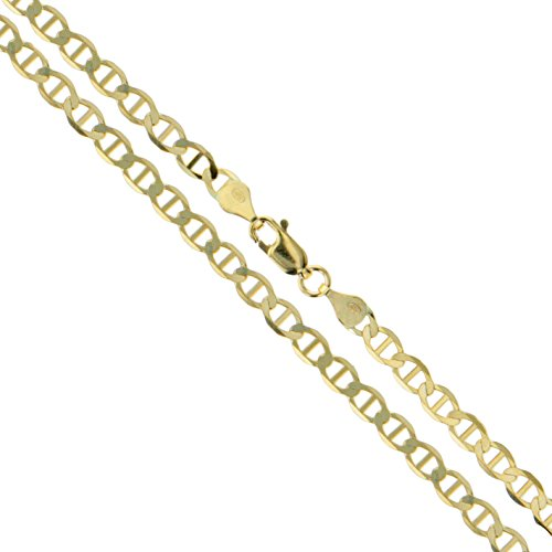 10k Yellow Gold Solid Mariner Chain Marina Anchor Link 1.9mm Necklace - Chain Gold 10k Solid
