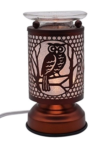 L&V New Electric Touch Fragrance Aromatherapy Lamp Oil Warmer Owl -