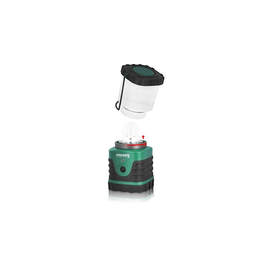 Sandalwood Ultra Bright 300 Lumen LED Camping Lantern for Camping, Hiking & Emergencies By