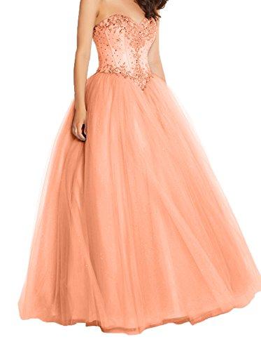 Damen Pailletten A Prinzess Damen Quincenera Neu 2018 Kleider Promkleider Linie Charmant Orange Ballkleider Abendkleider Hochwertig 4Ipd4xq