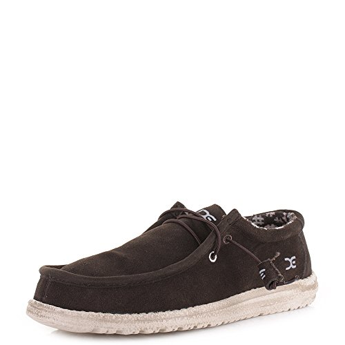 Dude Men's Shoes Winter Chocolate Suede Brown Wally rCrfxwqAT